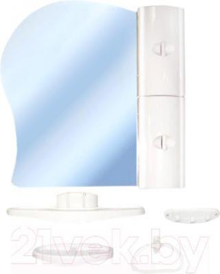 Комплект мебели для ванной Белпласт с341-2830 (белый, правосторонний) - общий вид