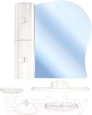 Комплект мебели для ванной Белпласт с341-2830 (белый, левосторонний) - общий вид