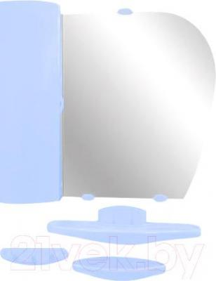 Комплект мебели для ванной Белпласт с417-2830  (голубой, левосторониий) - общий вид
