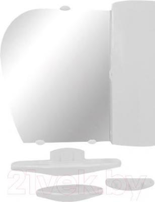 Комплект мебели для ванной Белпласт с417-2830 (белый, правосторонний) - общий вид