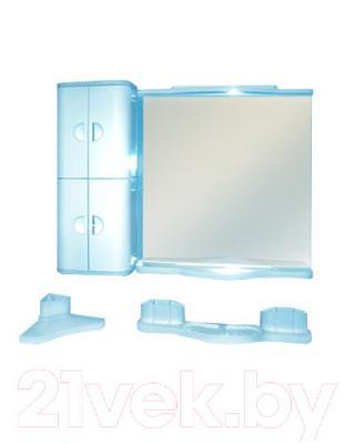Комплект мебели для ванной Белпласт Элегант с319-2830 (голубой)
