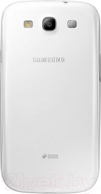 Смартфон Samsung Galaxy S III Duos / I9300I (белый) - вид сзади