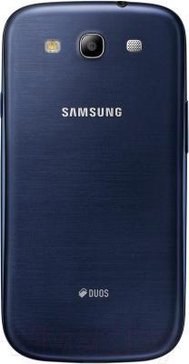 Смартфон Samsung Galaxy S III Duos / I9300I (синий) - вид сзади