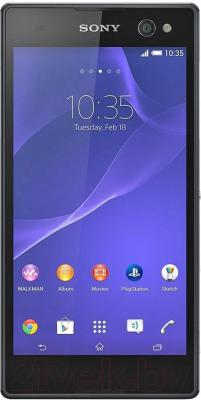 Смартфон Sony Xperia C3 Dual / D2502 (черный) - общий вид