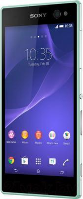 Смартфон Sony Xperia C3 Dual / D2502 (мята) - общий вид