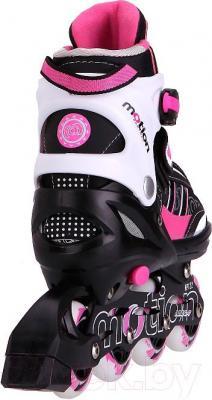 Роликовые коньки Motion Partner MP122S (S, розовые) - вид сзади