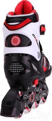 Роликовые коньки Motion Partner MP122S (S, красный) - вид сзади