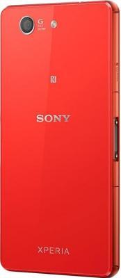 Смартфон Sony Xperia Z3 Compact / D5803 (оранжевый) - вид сзади