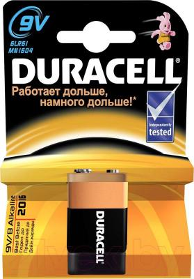 Батарейка PP3 (Крона) Duracell Basic 6LR61 (1шт) - общий вид