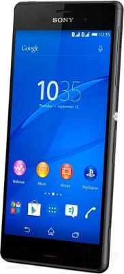Смартфон Sony Xperia Z3 Dual / D6633 (черный) - вполоборота