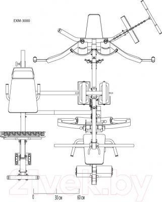 Силовой тренажер Body-Solid EXM3000LPS - схема