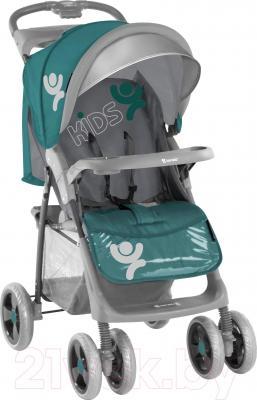 Детская прогулочная коляска Lorelli S100 (Gray-Green Beloved) - общий вид