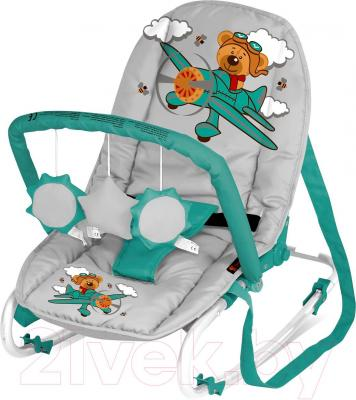 Детский шезлонг Lorelli Top Relax (Gray-Green Pilot) - общий вид