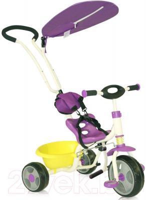 Детский велосипед с ручкой Bertoni Scooter (фиолетовый) - общий вид