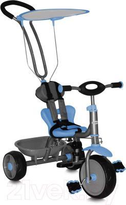 Детский велосипед с ручкой Bertoni Scooter (голубой) - общий вид