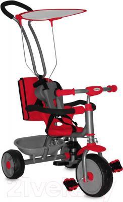 Детский велосипед с ручкой Bertoni Scooter+ (красный) - общий вид