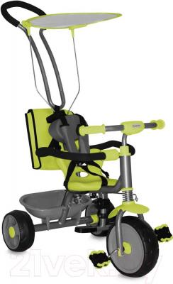 Детский велосипед с ручкой Bertoni Scooter+ (зеленый) - общий вид