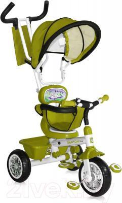 Детский велосипед с ручкой Bertoni B313A (зеленый) - общий вид