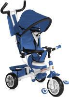 Детский велосипед с ручкой Bertoni B302A (синий/белый) -