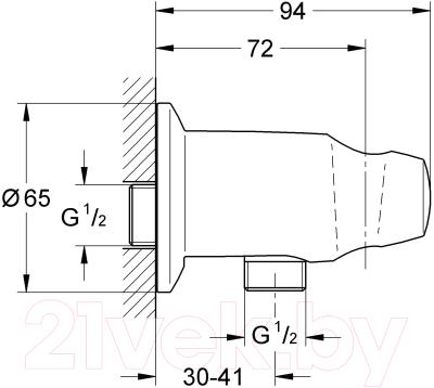 Подключение для душевого шланга GROHE Movario 28406000