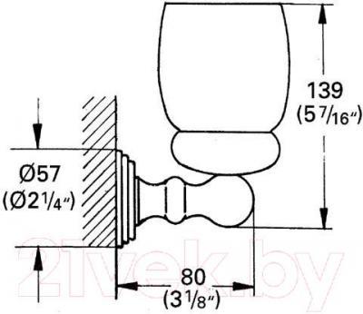 Стакан для зубных щеток GROHE Sinfonia 40044000 - схема