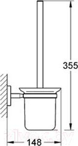 Ершик для унитаза GROHE Bau Cosmopolitan 40463000 - схема
