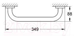 Поручень для ванны GROHE 40421000 - габаритные размеры