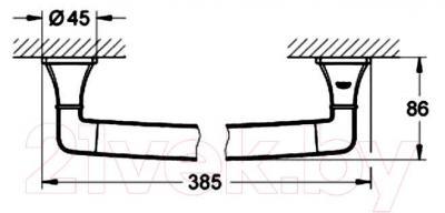 Ручки для ванны GROHE Grandera 40633IG0 - габаритные размеры