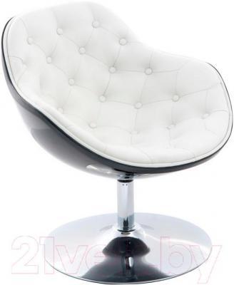 Кресло Мебельные компоненты Lux (бело-черный)