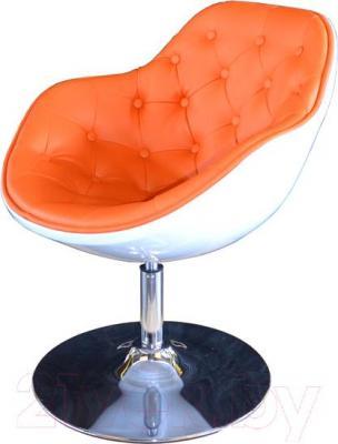 Кресло Мебельные компоненты Lux (бело-оранжевый) - общий вид