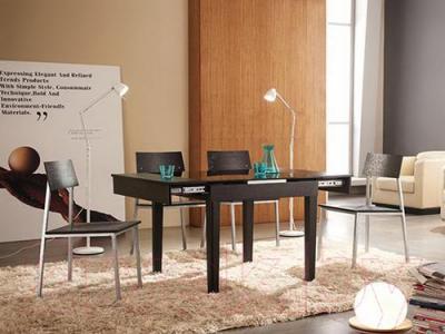 Обеденный стол Мебельные компоненты Diva (чёрный) - в интерьере