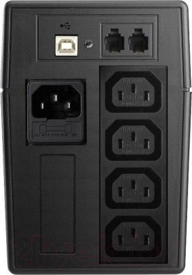 ИБП Mustek PowerMust 636 New - вид сзади