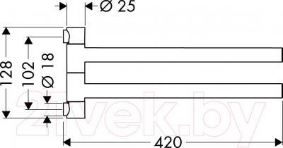 Держатель для полотенца Hansgrohe Axor Citterio 40820000 - схема