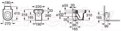 Унитаз напольный Roca Happening A347115000
