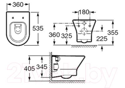 Унитаз подвесной Roca Nexo А346640000 (только чаша)