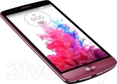 Смартфон LG G3 S mini Dual / D724 (красный) - вид лежа