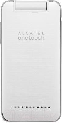 Мобильный телефон Alcatel One Touch 2012D (белый) - вид сзади