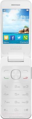 Мобильный телефон Alcatel One Touch 2012D (белый) - в раскрытом положении