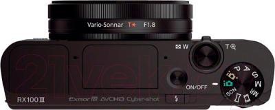 Компактный фотоаппарат Sony DSC-RX100M3 - вид сверху
