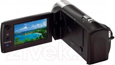 Видеокамера Sony HDR-PJ410B - вид сзади
