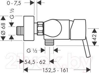 Смеситель Hansgrohe Talis S 32620000 - технический чертеж