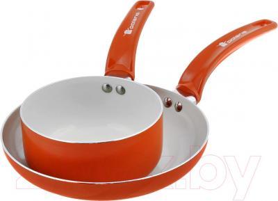 Набор кухонной посуды Polaris Rain 1624SPF (оранжевый)