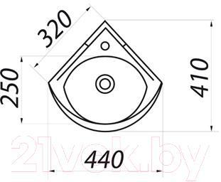 Умывальник настенный Colombo Полисся R S19270000