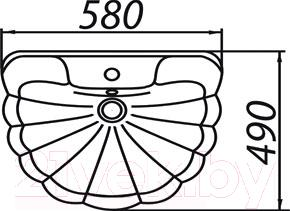 Умывальник настенный Colombo Орхидея R S18115880 (малахит)
