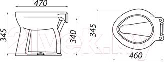Унитаз напольный Colombo Дачный R S10341100 - схема