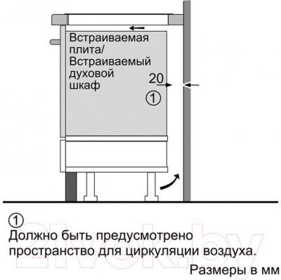 Индукционная варочная панель Bosch PIB645F17E - схема
