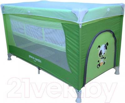 Кровать-манеж Pierre Cardin PS130 (зеленый) - общий вид