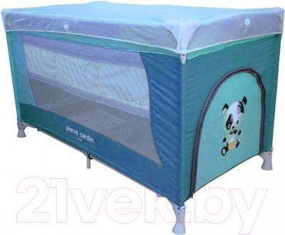 Кровать-манеж Pierre Cardin PS130 (синий) - общий вид