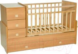 Детская кровать-трансформер Антел Ульяна-2 (бук) - общий вид