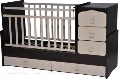 Детская кровать-трансформер Антел Ульяна-2 (венге-клен) - общий вид